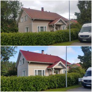 Tiilikaton maalaus ja pesupalvelut Hämeenlinnan ja Tampereen alueella. Teemme myös peltikaton pesut ja maalaukset.
